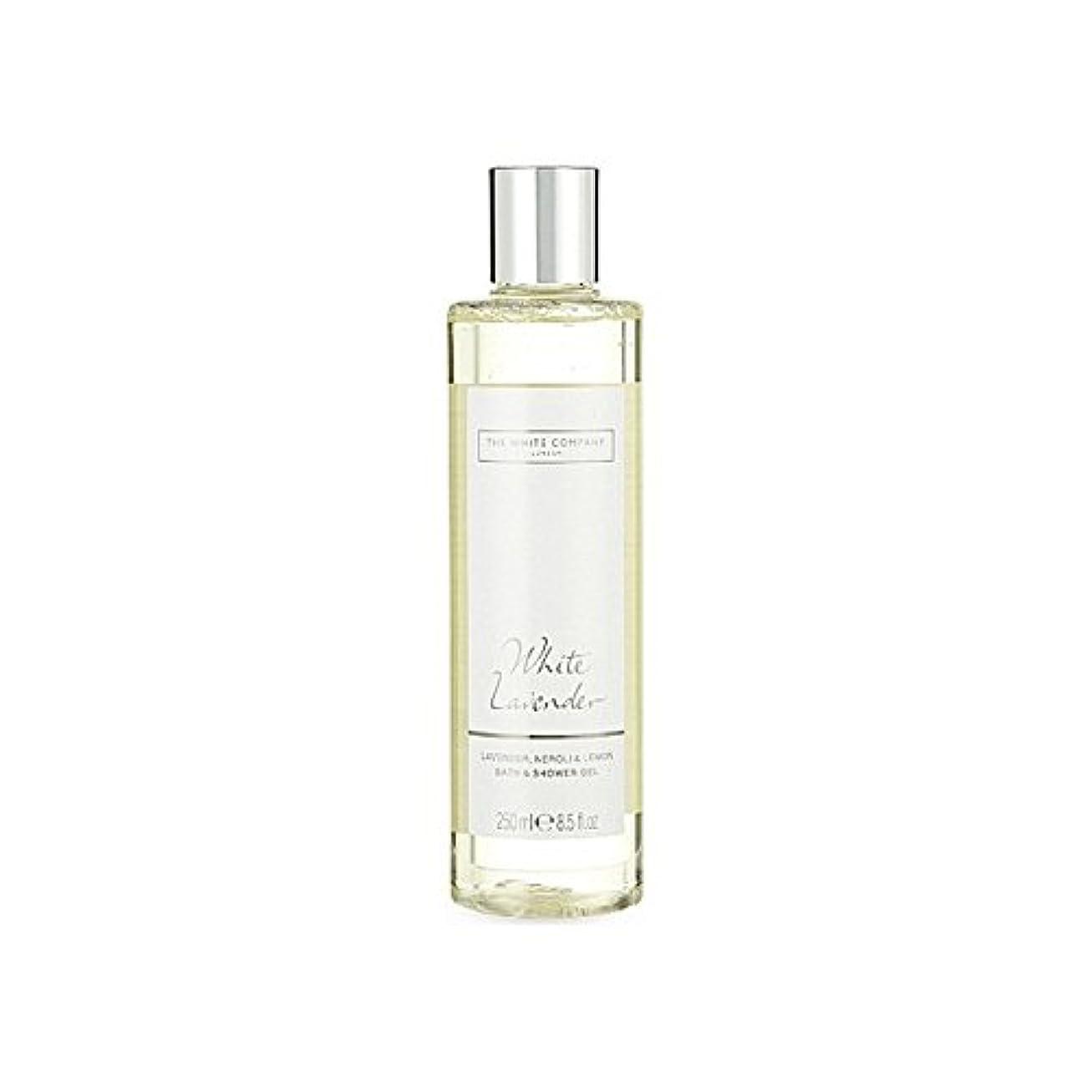 組み合わせるエネルギー復活The White Company White Lavender Bath & Shower Gel - 白同社白ラベンダーのバス&シャワージェル [並行輸入品]