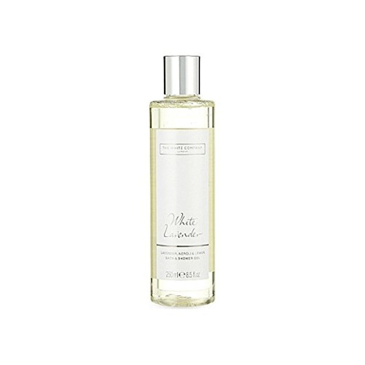 絶縁する重くする療法The White Company White Lavender Bath & Shower Gel - 白同社白ラベンダーのバス&シャワージェル [並行輸入品]