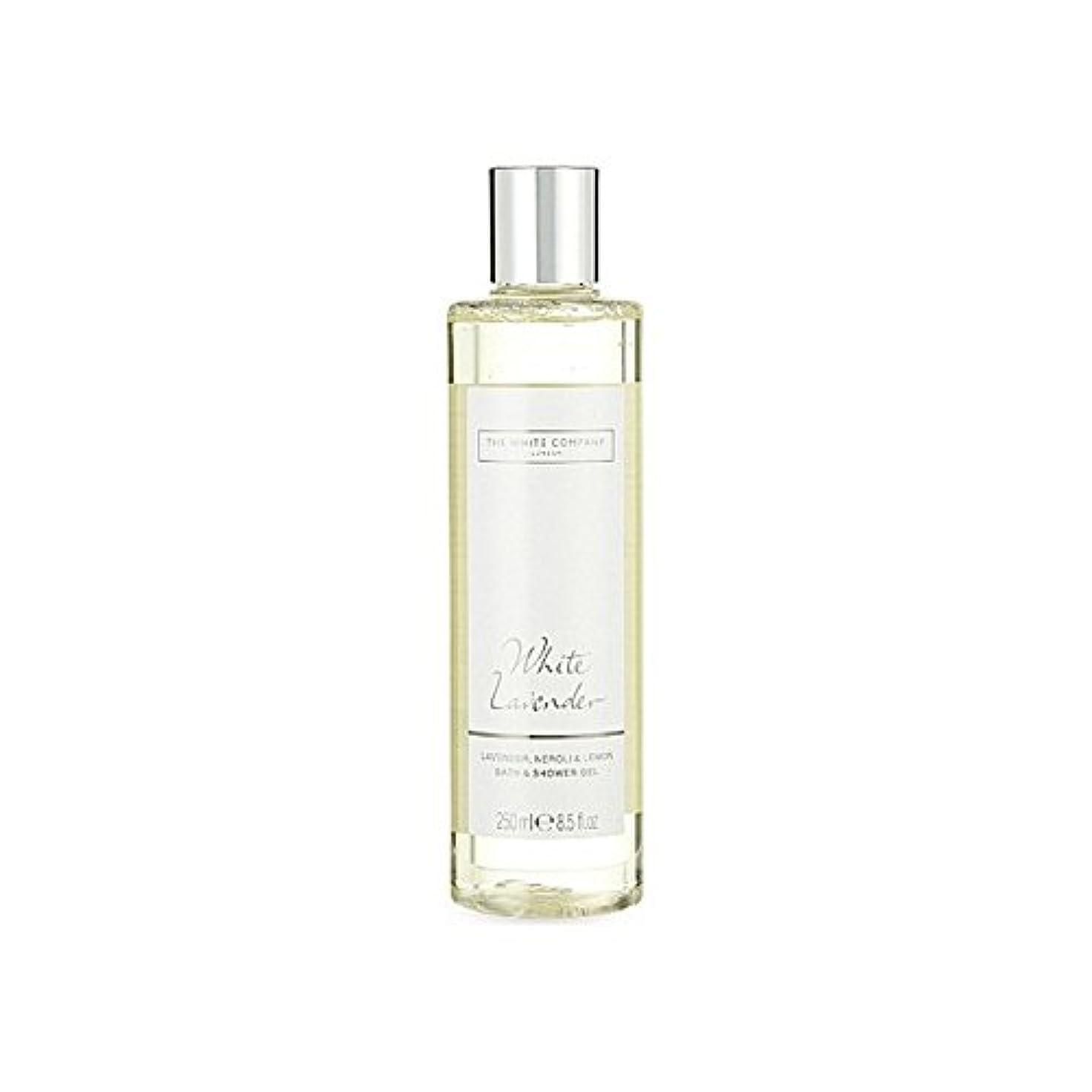 The White Company White Lavender Bath & Shower Gel - 白同社白ラベンダーのバス&シャワージェル [並行輸入品]