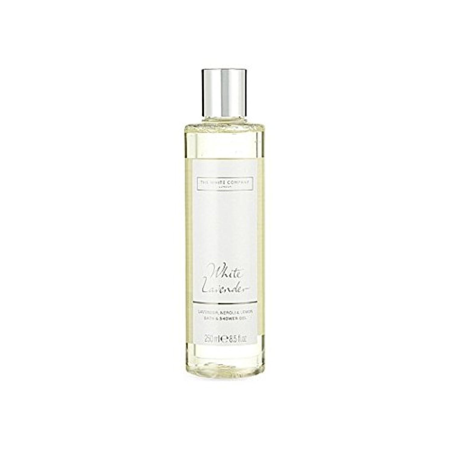 コメント少し現れるThe White Company White Lavender Bath & Shower Gel - 白同社白ラベンダーのバス&シャワージェル [並行輸入品]