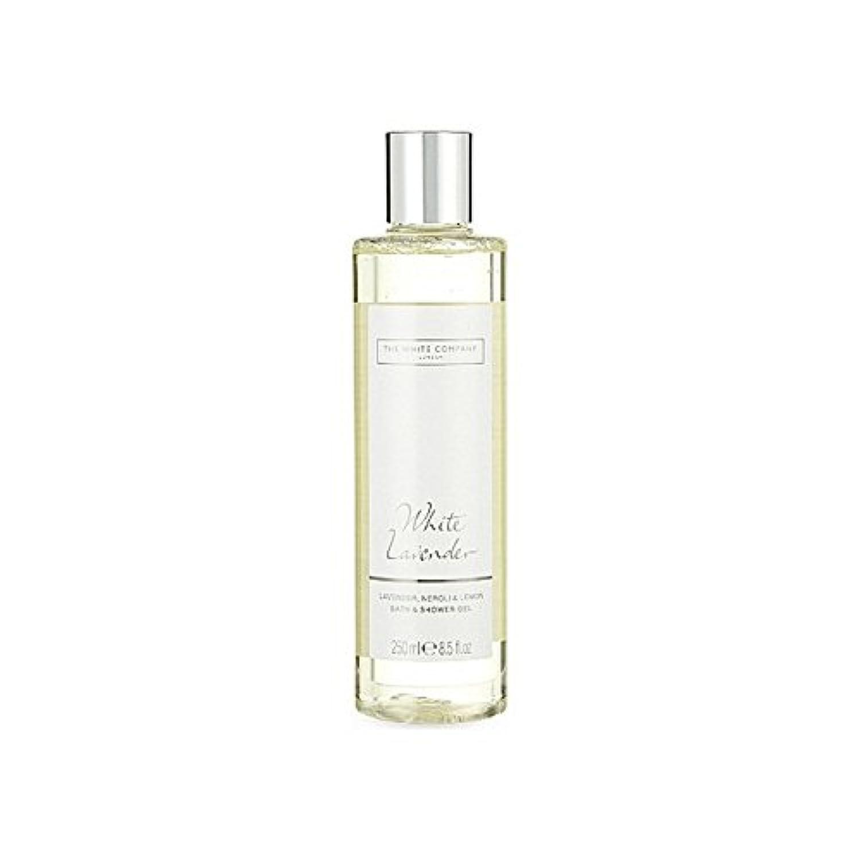 破壊するワインええThe White Company White Lavender Bath & Shower Gel - 白同社白ラベンダーのバス&シャワージェル [並行輸入品]