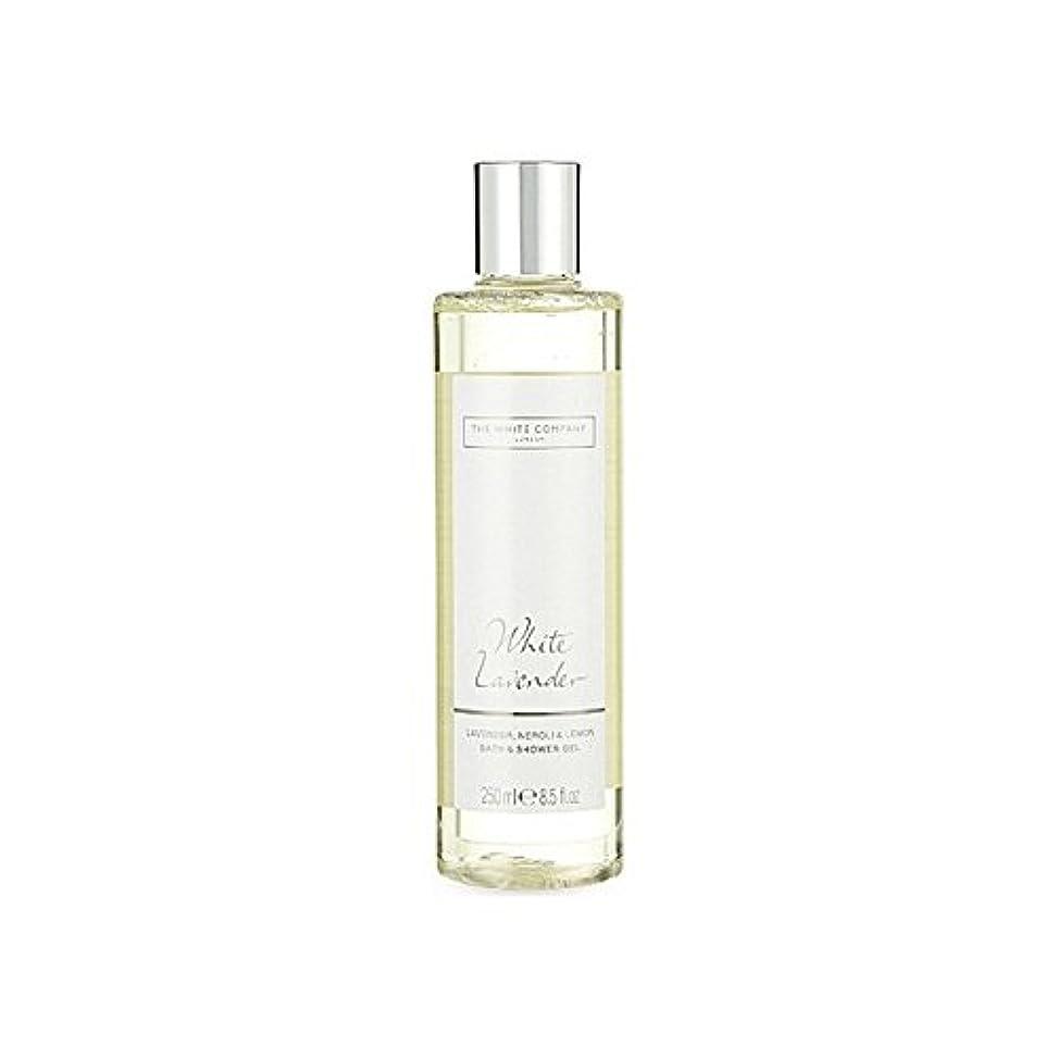 所有権細い大統領The White Company White Lavender Bath & Shower Gel - 白同社白ラベンダーのバス&シャワージェル [並行輸入品]