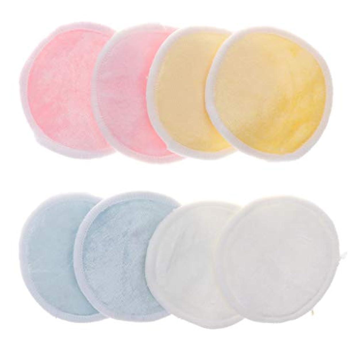 式乳ブラウンクレンジングシート 化粧コットン パッド メイク落としコットン 再使用可能 軽量 トラベル 8個入
