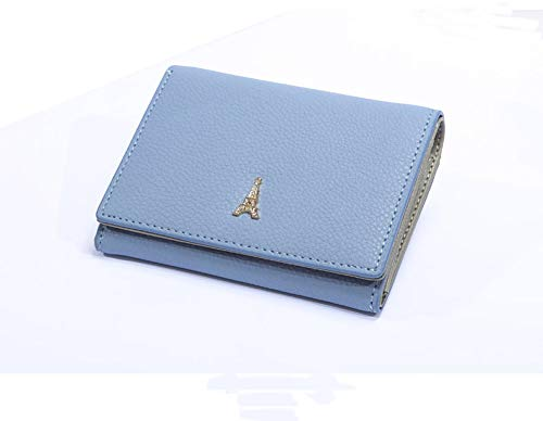 f5be7a3fb756 【AMgrocery】本革 軽量(59g) ミニ財布 二つ折り財布 コンパクト レディース