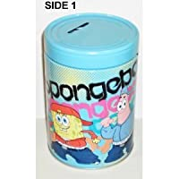 Round Coin Bank - Spongebob Squarepants - Patrick Tin Box New 245207-3