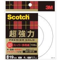 3M スコッチ 超強力両面テープ プレミアゴールド (スーパー多用途) 19mm×4m 1巻