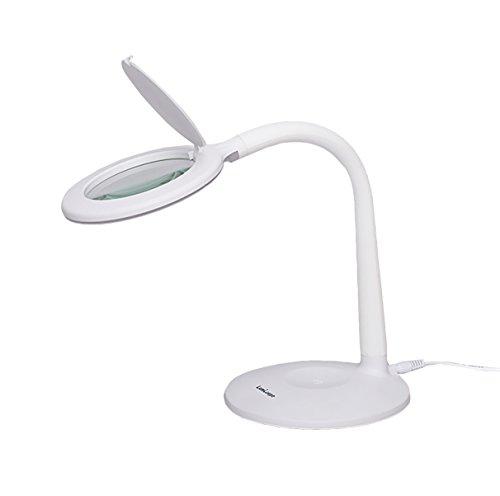 【調光3段階 LED24灯】拡大鏡ルーペ 卓上型(ルミルーペ...