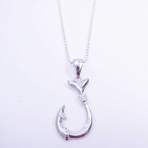 [해외]LocoMocoAloha 하와이안 쥬얼리 목걸이 펜던트 헤드 Silver925 미니 휘시 에훗쿠 바늘 정품 보장/LocoMocoAloha Hawaiian Jewelry Necklace Pendant Top Head Silver 925 Mini Fish Hook Fishing Needle Genuine Warranty