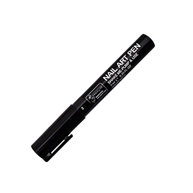 スリム可決余裕があるSTARDUST ネイルアートペン 全16色 セルフネイル フレンチ マニキュア ペン 3Dネイル ペイント メイク 美容用品 (2.ブラック) SD-NAILPEN-2