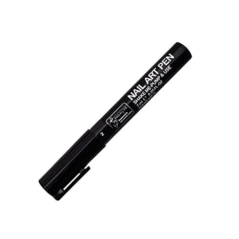 バルセロナ失われた分類するSTARDUST ネイルアートペン 全16色 セルフネイル フレンチ マニキュア ペン 3Dネイル ペイント メイク 美容用品 (2.ブラック) SD-NAILPEN-2