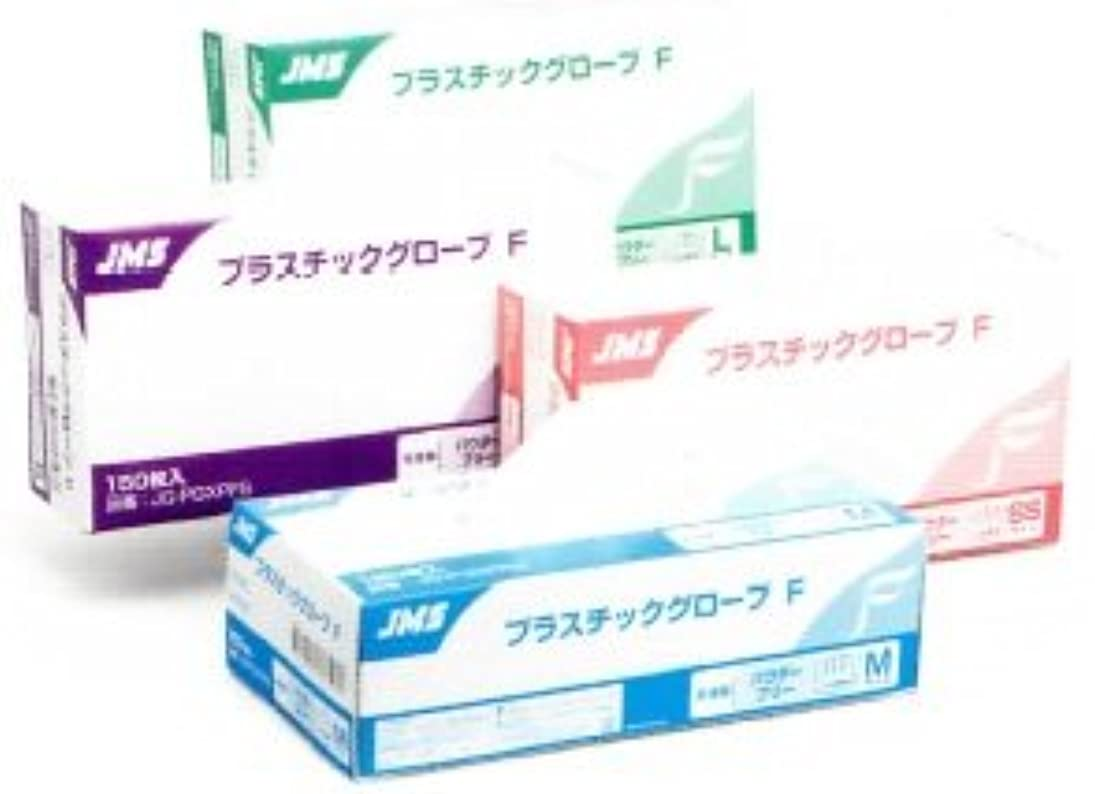 赤道備品アヒルJMSプラスチックグローブF パウダーフリー プラスチック手袋 150枚入 サイズSS