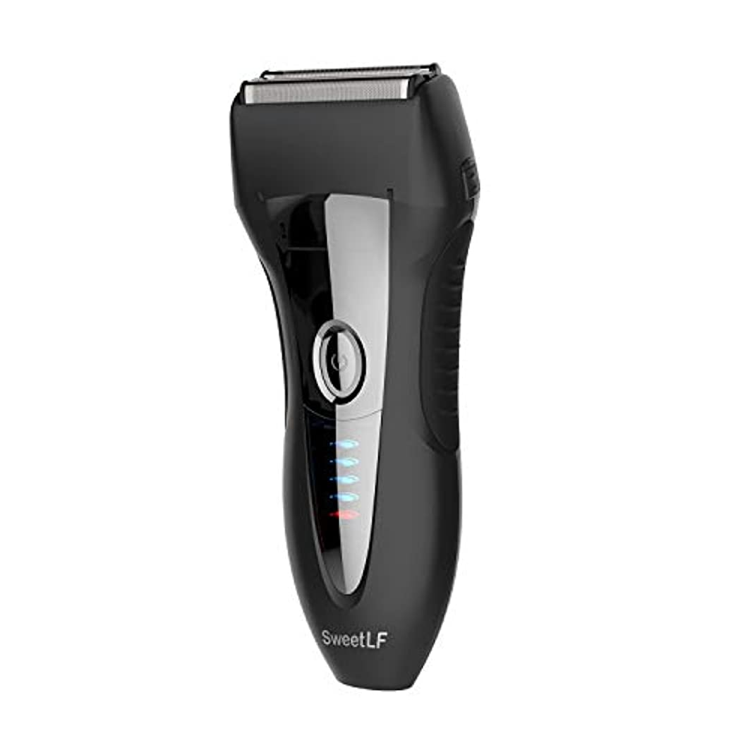 ばかげた笑持ってるSweetLF シェーバー メンズ 電気シェーバー ひげそり 電気カミソリ 往復式 3枚刃 USB充電式 お風呂剃り可 LED電源残量表示 トリマー付き