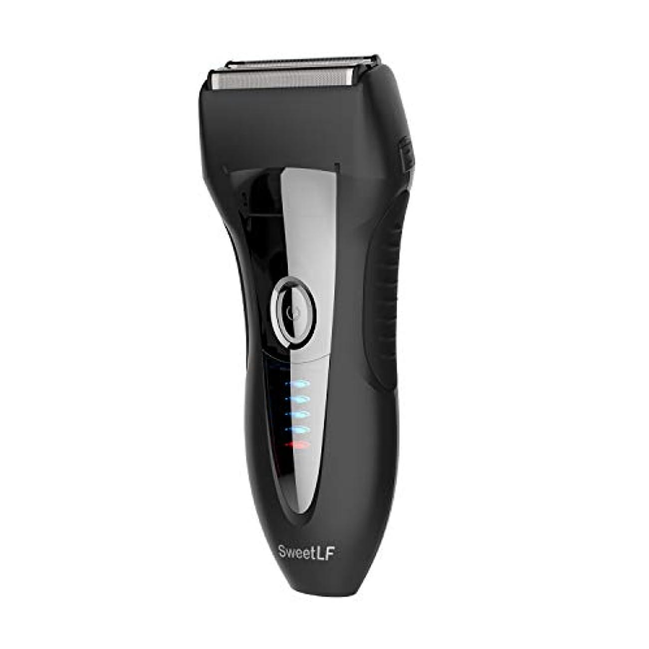 タイヤ全国優雅なSweetLF シェーバー メンズ 電気シェーバー ひげそり 電気カミソリ 往復式 3枚刃 USB充電式 お風呂剃り可 LED電源残量表示 トリマー付き