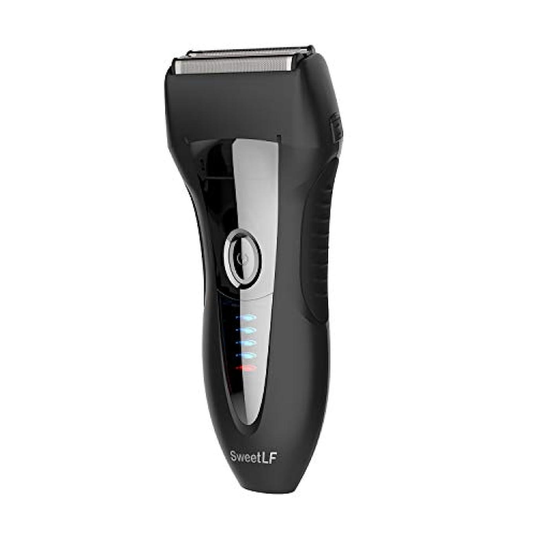 広げるアリーナ引用SweetLF シェーバー メンズ 電気シェーバー ひげそり 電気カミソリ 往復式 3枚刃 USB充電式 お風呂剃り可 LED電源残量表示 トリマー付き