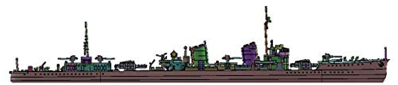 ヤマシタホビー 1/700 艦艇模型シリーズ 駆逐艦 睦月 開戦時 プラモデル NV11