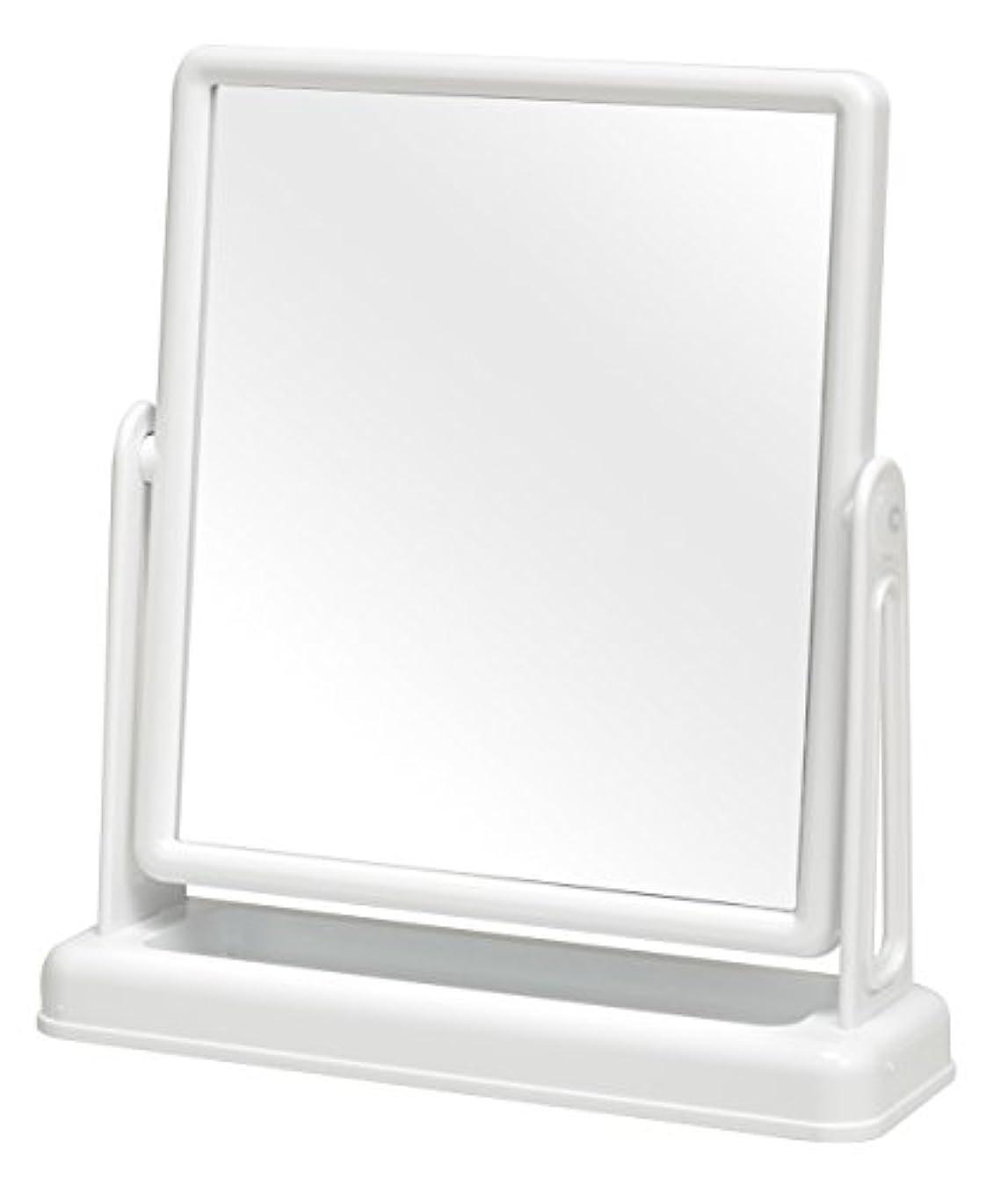 インシュレータ銀行ライオネルグリーンストリート永井興産 スクエア卓上ミラー ファイン ホワイト 約 幅25.5×奥行8×高さ28cm