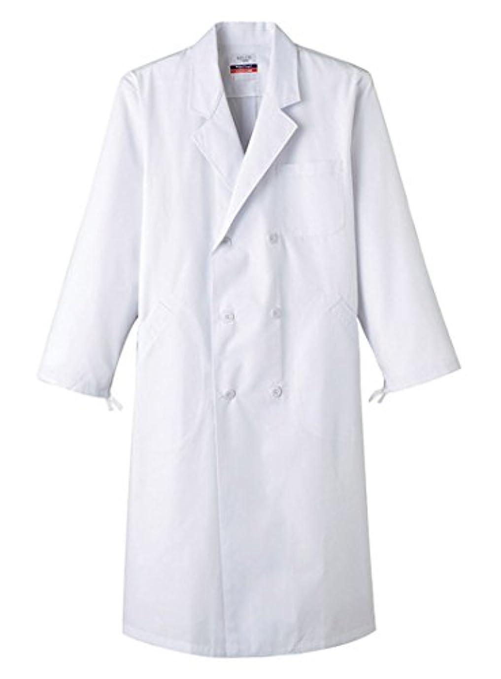 更新干し草デザートサンペックスイスト 男性用検査衣 ドクターコート 長袖 ダブル MR-115