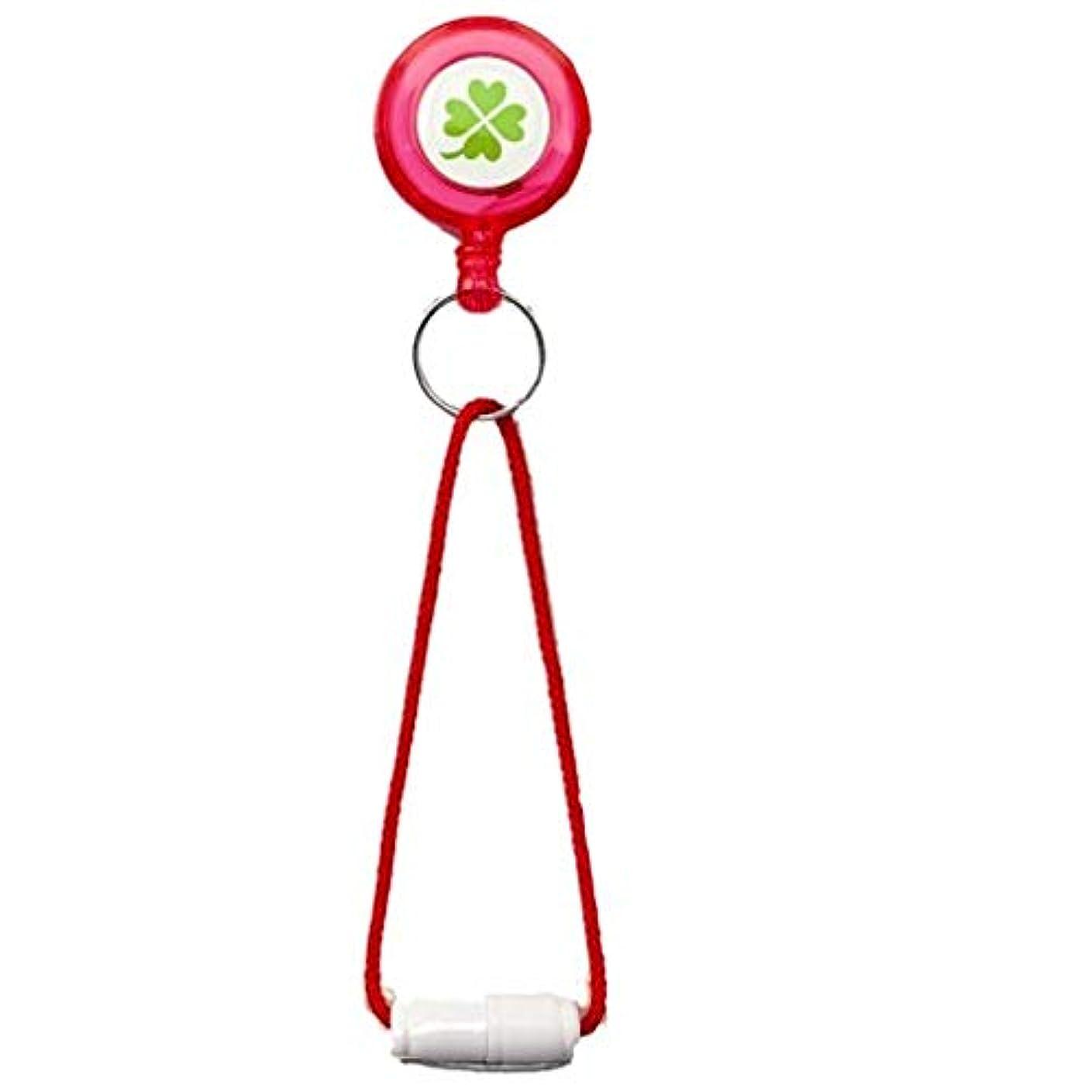 発表する注文センチメンタル便利なストラップ付リールキー (ピンク)