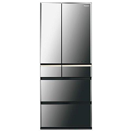 パナソニック 601L 6ドア冷蔵庫(オブシディアンミラー)Panasonic エコナビ NR-F603WPV-X