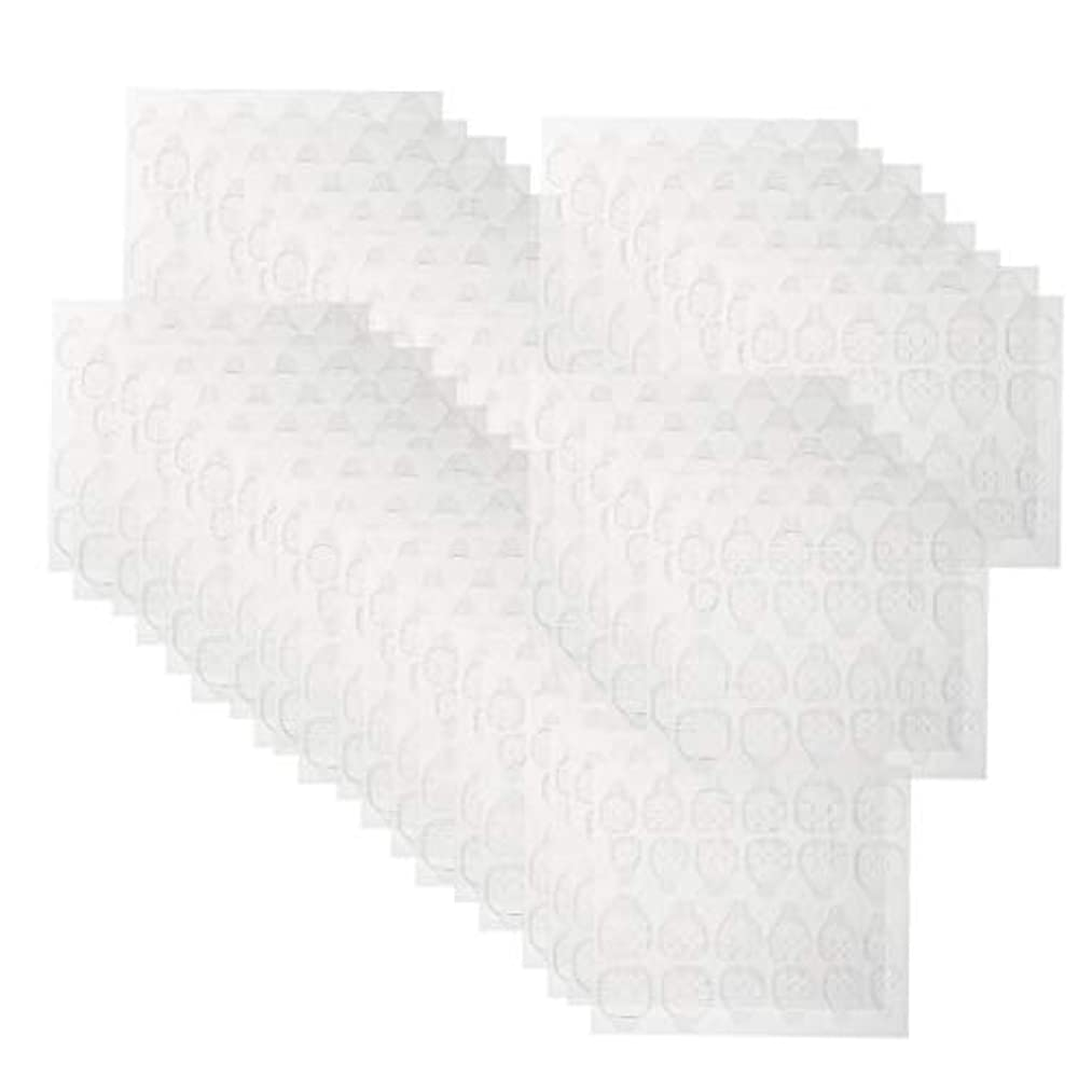 辞書輝度稼ぐネイルタブ クリア ネイル接着剤タブ マニキュアスティック ネイルケア 約240ピースセット