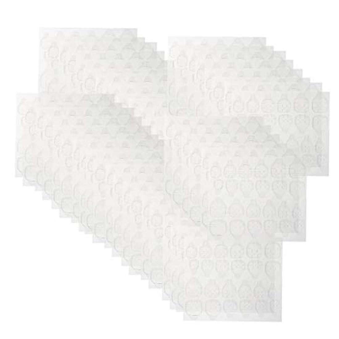 共同選択性的最高ネイルタブ クリア ネイル接着剤タブ マニキュアスティック ネイルケア 約240ピースセット