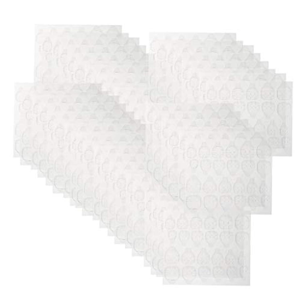コットンアプライアンススカウトネイルタブ クリア ネイル接着剤タブ マニキュアスティック ネイルケア 約240ピースセット