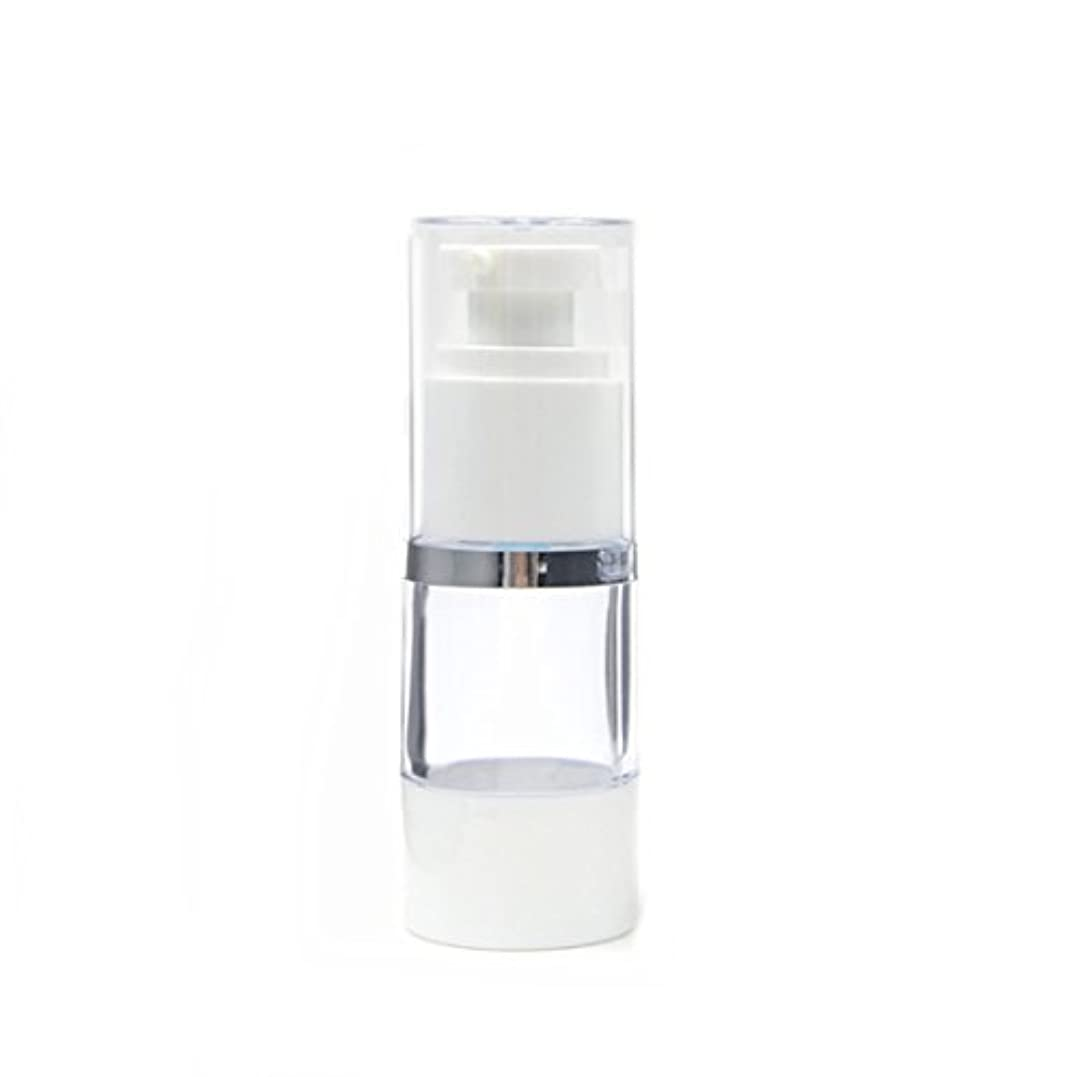 ラリー未払いクラウンAngelakerry エアレス 容器 プラスチック製 15ml シルバーエッジ  手作りコスメ 手作り化粧品 20本セット [並行輸入品]