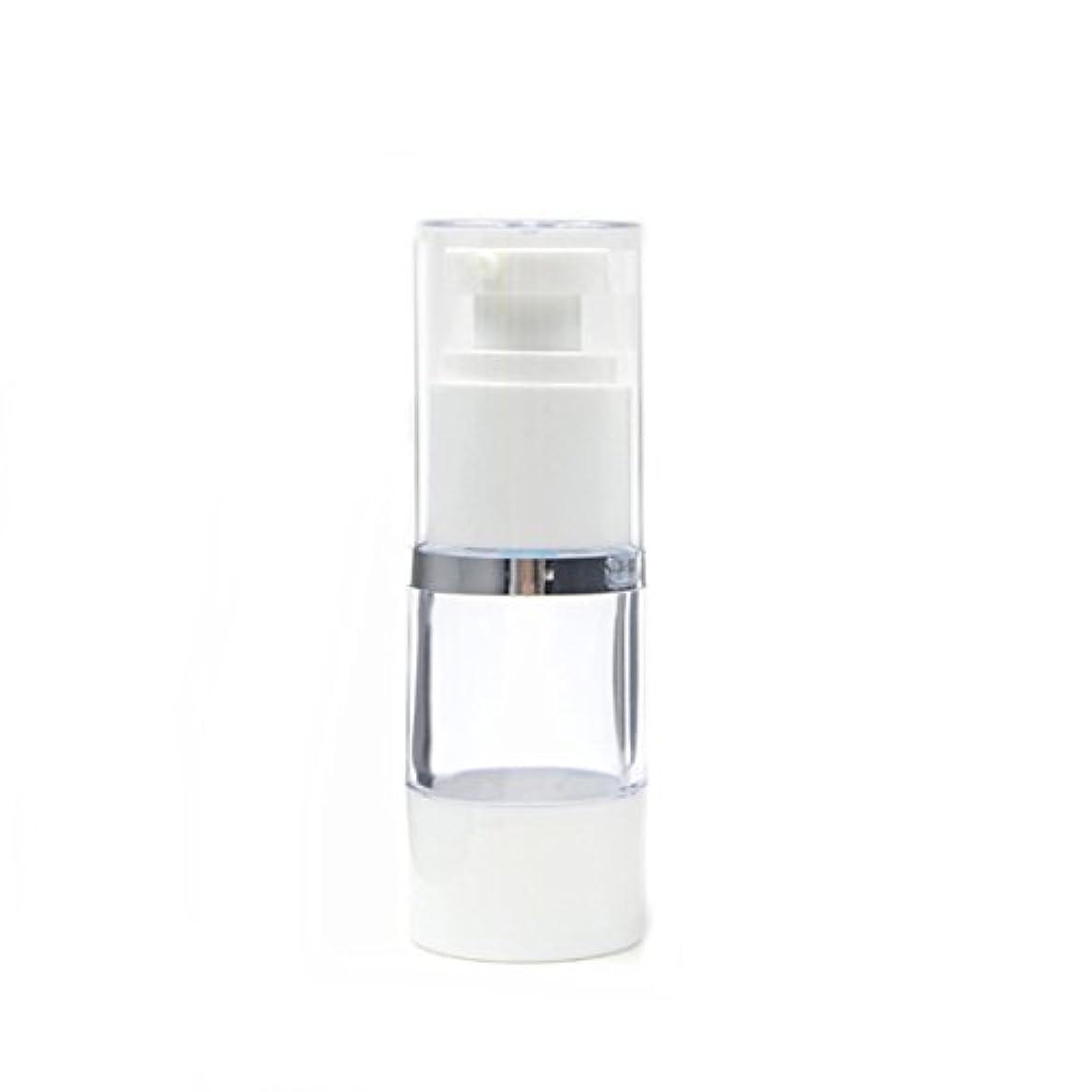 使用法城違うAngelakerry エアレス 容器 プラスチック製 15ml シルバーエッジ  手作りコスメ 手作り化粧品 10本セット [並行輸入品]