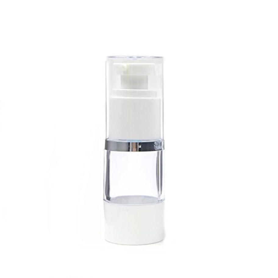 想像力豊かな投資する販売員Angelakerry エアレス 容器 プラスチック製 15ml シルバーエッジ  手作りコスメ 手作り化粧品 10本セット [並行輸入品]