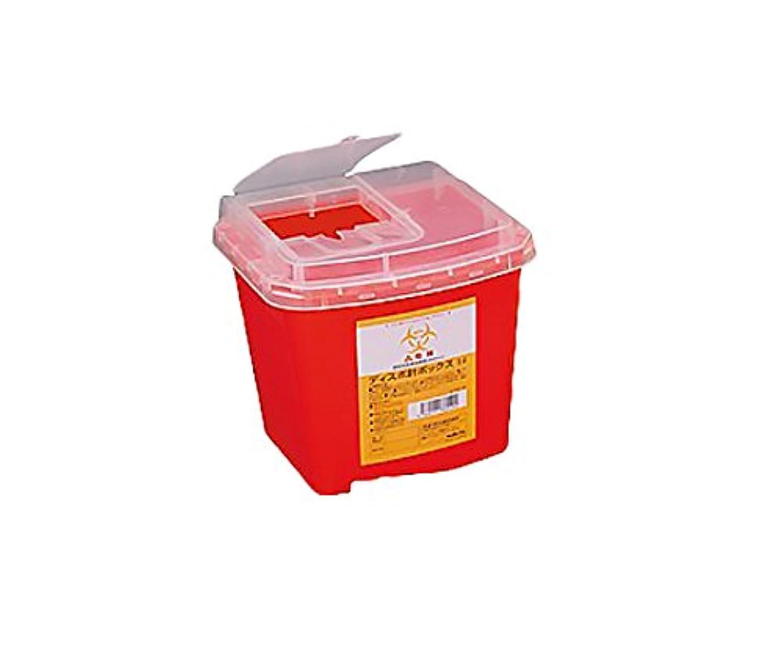 文言振幅出席アズワン ディスポ針ボックス 赤色 5L / 8-7221-43