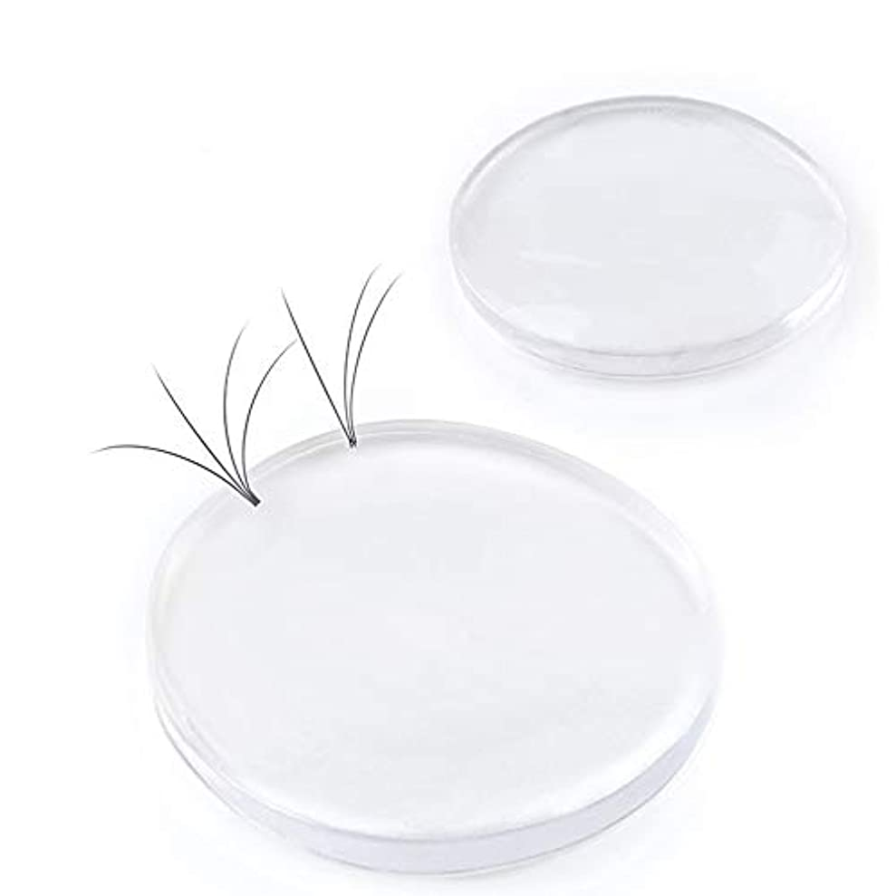 食欲頭痛ペリスコープKingsie つけまつげ用シリコンパッド 3個セット まつげエクステ シリコントレイ アイラッシュトレー ホルダー まつエク 丸型 透明