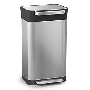 Joseph Joseph ペダル式ゴミ箱 ステンレス 30L ゴミを1/3に圧縮するゴミ箱 クラッシュボックス 30030