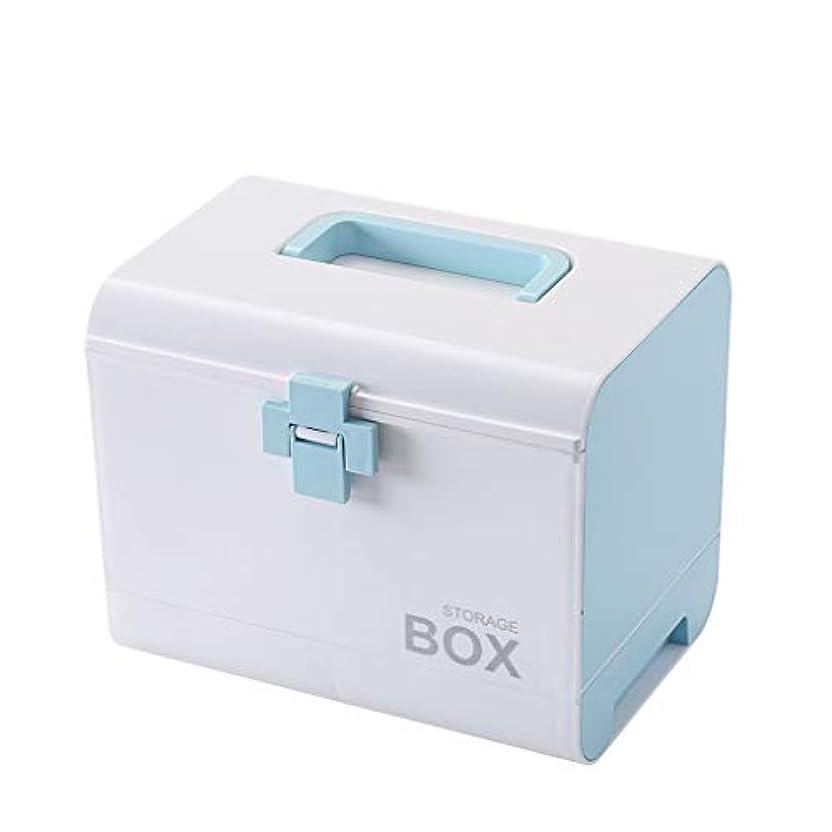 異常アヒル絶妙Djyyh 取り外し可能な皿およびハンドルが付いている救急箱の医学箱、家族の緊急のキットの貯蔵のオルガナイザー