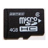 アドテック microSDHCカード4GB class6対応 防水設計(miniSD変換SD変換アダプター付) AD-MRHM4G/6