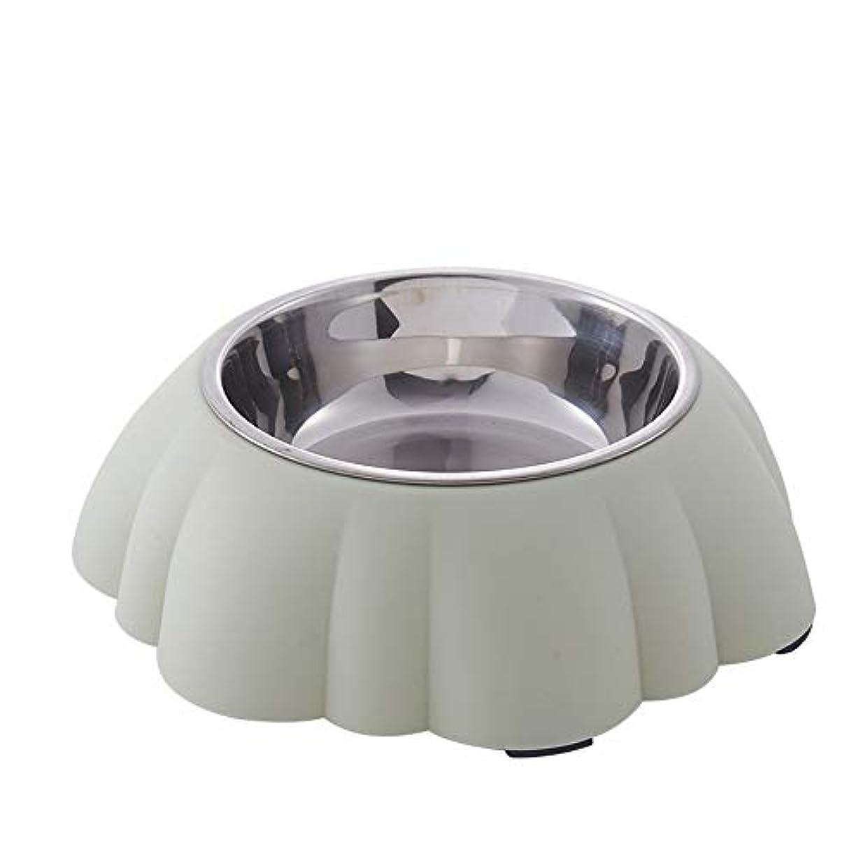 NANI_PET両用ペット食器 犬猫用食器 餌入れ 給水器 ステンレス製 食べやすい ウォーターボトル 滑り止め 細菌の繁殖を抑える 早食い防止グリーン
