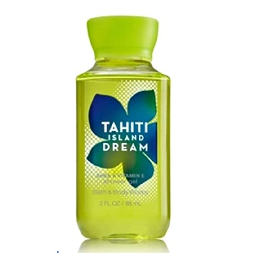 乱闘シャー進行中バス&ボディワークス タヒチアイランドドリーム ボディソープ Tahiti Island dream トラベルサイズ [並行輸入品]