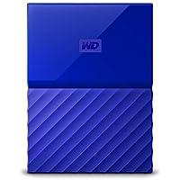 WD HDD ポータブル ハードディスク 2TB USB3.0 ブルー 暗号化 パスワード保護 3年保証 My Passport WDBS4B0020BBL-WESN