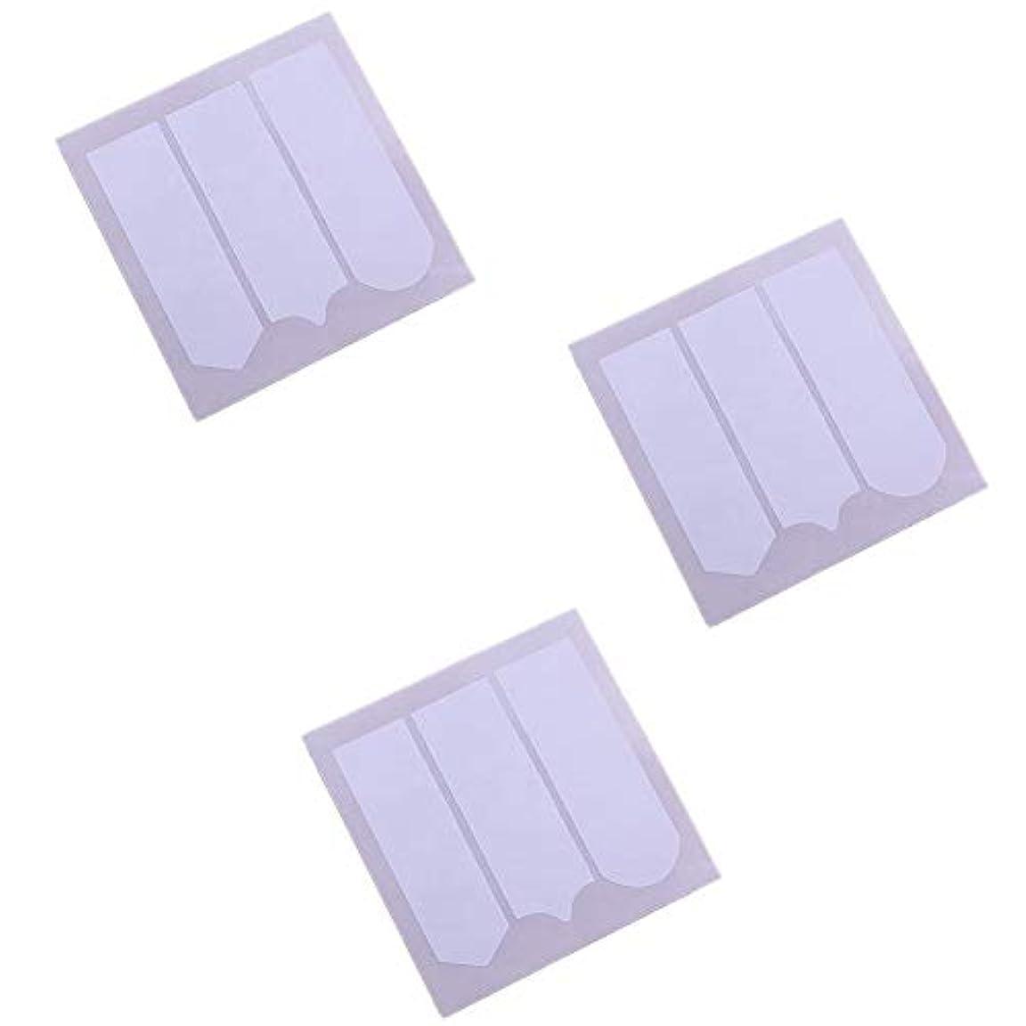 神感謝祭お肉3Sheetsフランス語ヒントガイドムーン形状デザインネイルステッカースマイルラインステッカー自己接着性ネイルステッカーは、自分自身を導くマニキュアネイルツールを促し