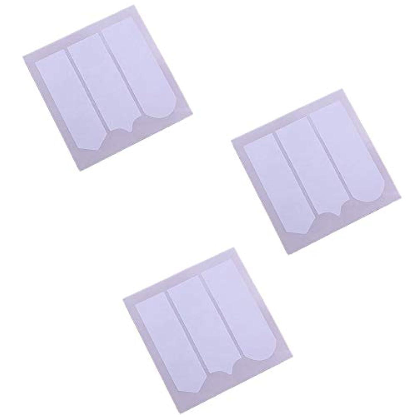 ラップ鳩解釈3Sheetsフランス語ヒントガイドムーン形状デザインネイルステッカースマイルラインステッカー自己接着性ネイルステッカーは、自分自身を導くマニキュアネイルツールを促し