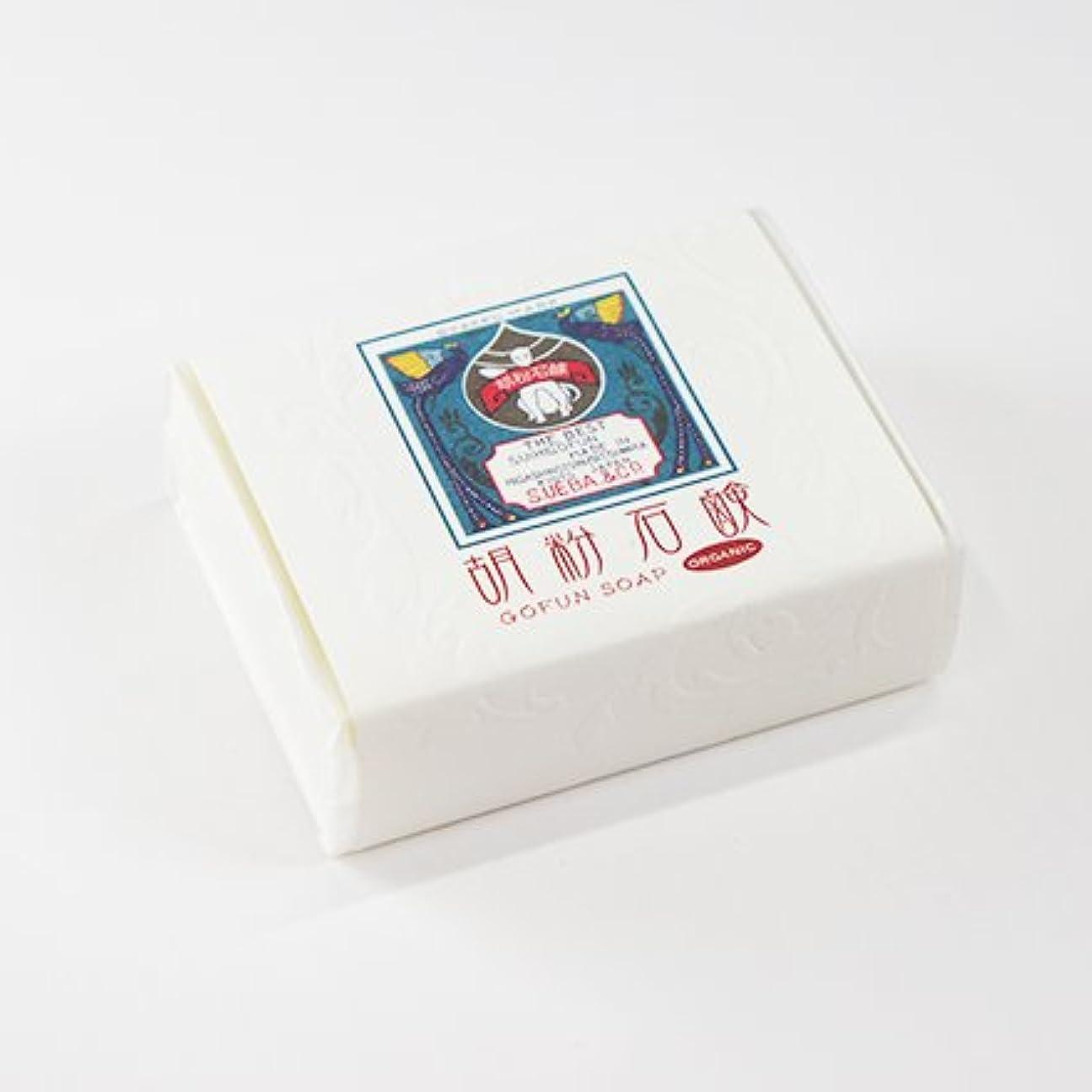 赤道関連する不可能な胡粉石鹸 90g