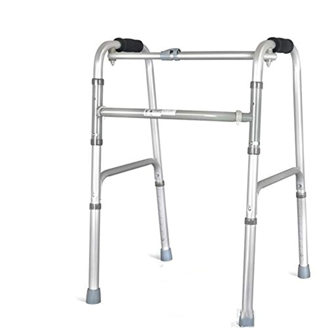 イタリアの美しい悩む折りたたみ式軽量アルミ製車輪付き4本足杖歩行器 - 高さ調節可