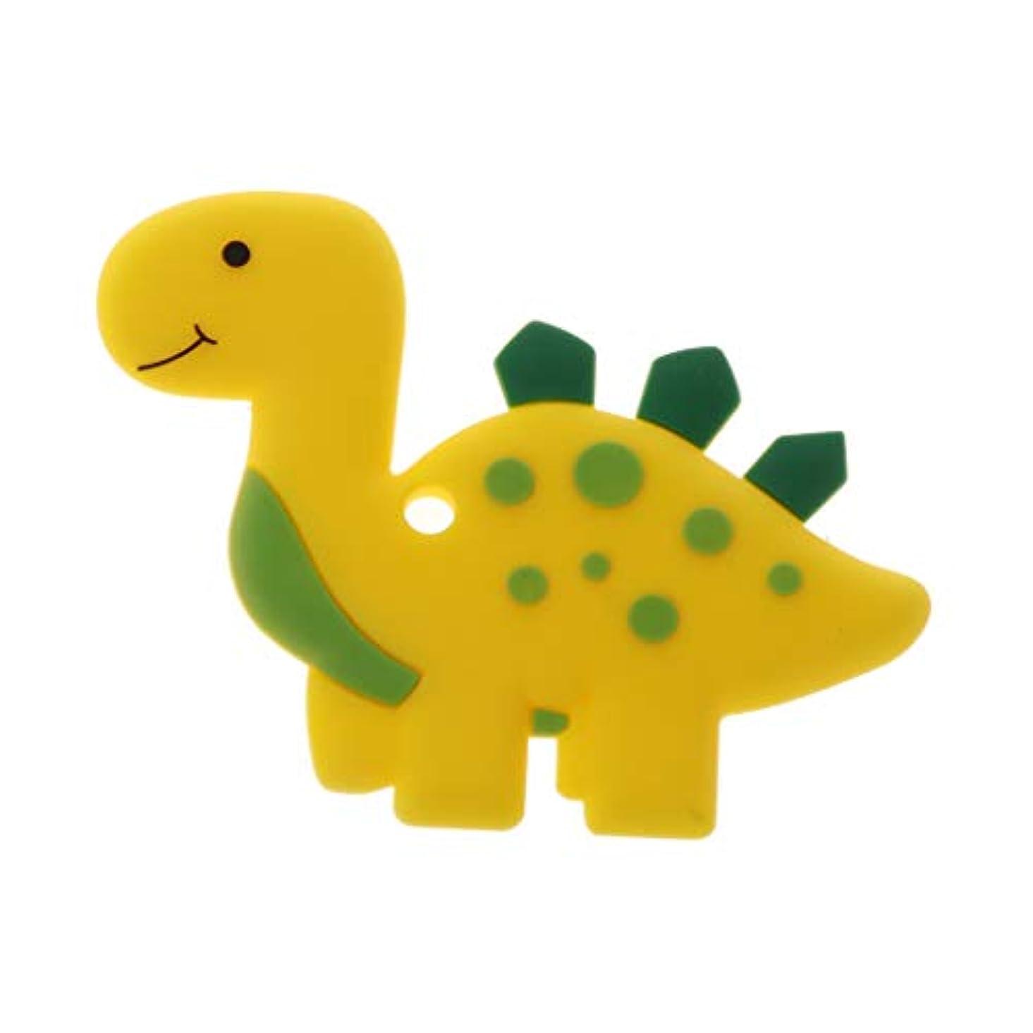 船誓い浜辺Landdumシリコーンおしゃぶり恐竜おしゃべり赤ちゃん看護玩具かむ玩具歯が生えるガラガラおもちゃ - ロイヤルブルー