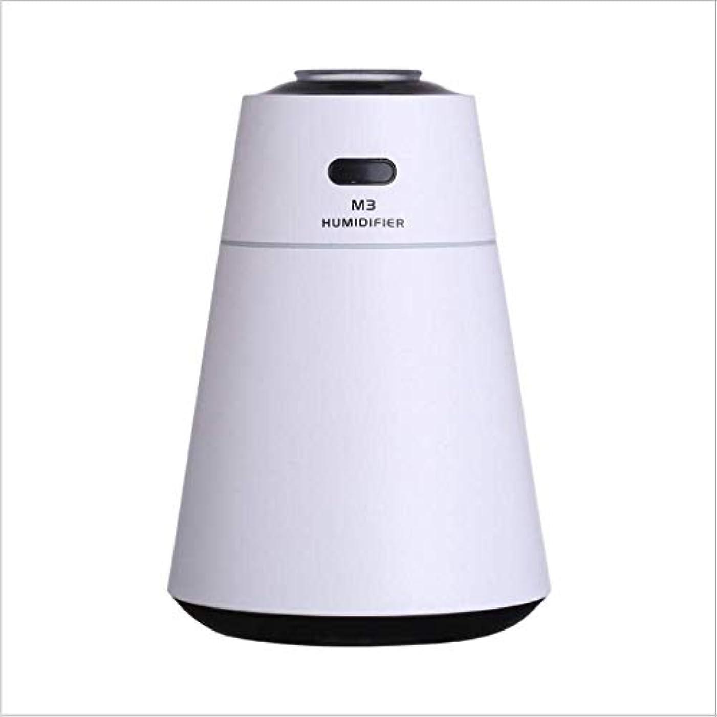 偏差ドラム経験的SOTCE アロマディフューザー加湿器超音波霧化技術満足のいく解決策の美しい装飾は、USB湿潤環境をスプレーミストクール (Color : White)