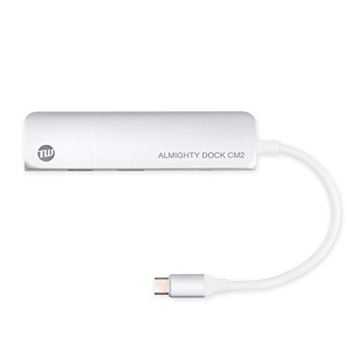 TUNEWEAR ALMIGHTY DOCK CM2 MacBook対応 マルチUSB-Cハブ (USB Aポート x2/ USB Cポート/ HDMIポート) シルバー TUN-OT-000035