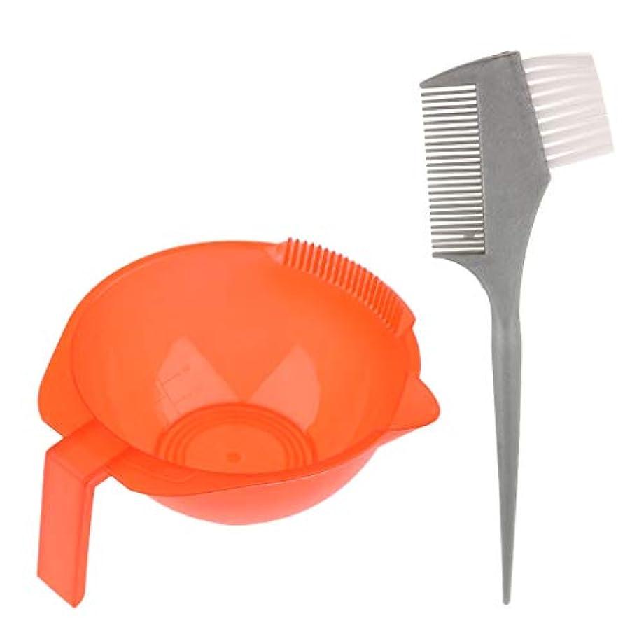 危険にさらされているレザー脳ヘアダイ ブラシ + ヘアカラーボウル ヘア染めカップ ヘアカラー ブラシ プラスチック ヘアカラーツール