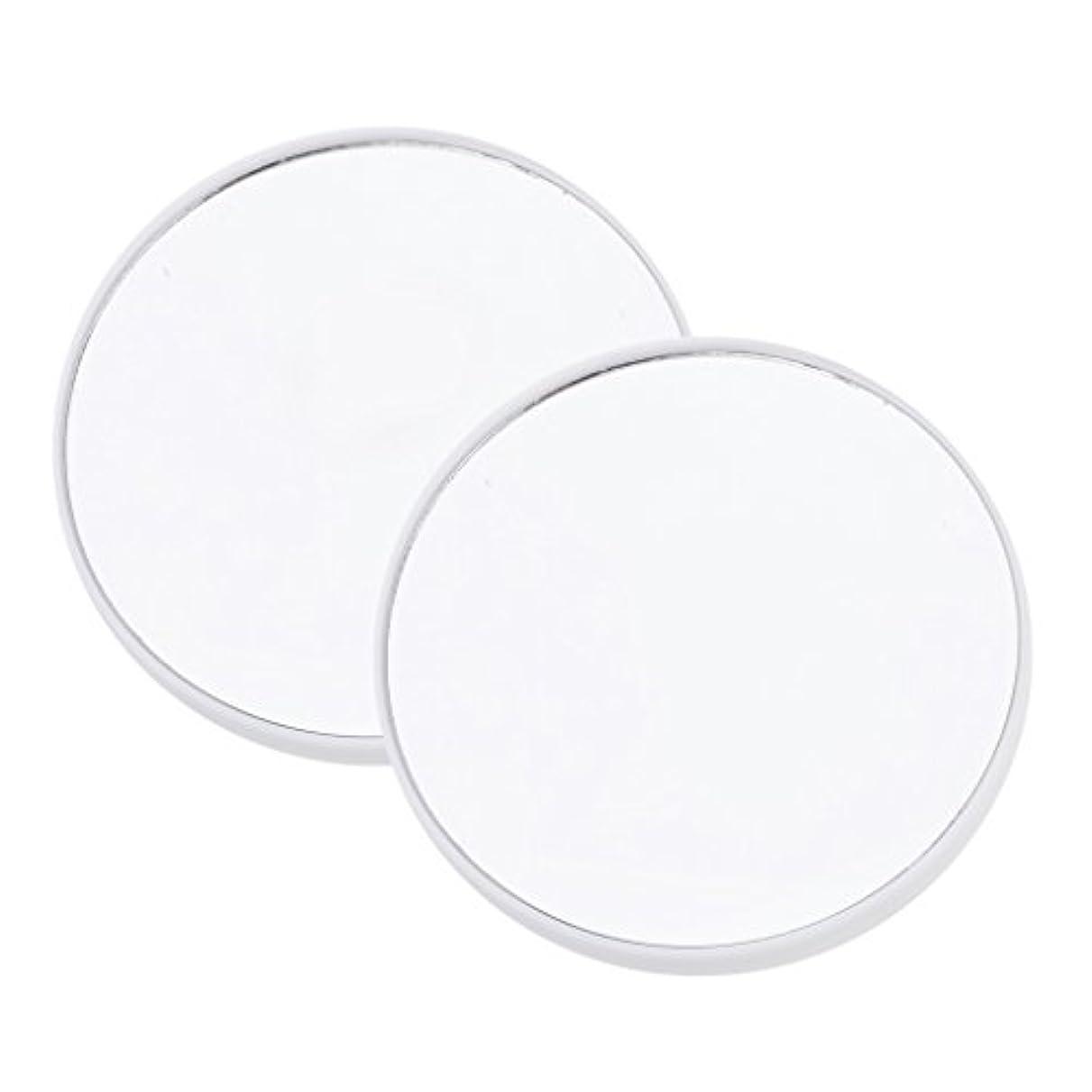 接地瀬戸際信号Blesiya 2個入 拡大鏡 メイクアップミラー 吸引カップ サクションカップ 化粧ミラー メイクアップ 3タイプ選べる - 15倍