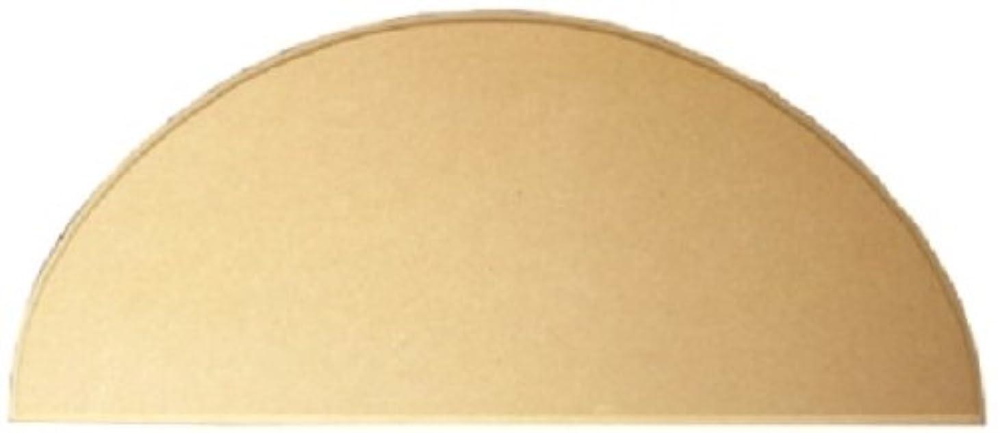 技術的な大通り保証金無塗装白木素材 MDFボード 半円型(小)450×190 mdf-055