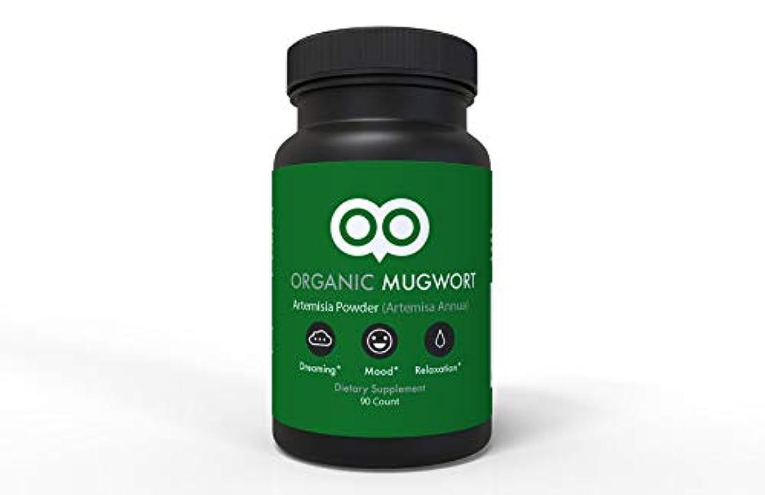 石化する発生する暗黙Dream Leaf ヨモギ カプセル 450 mg 90 カプセル ビーガン ヨモギ アルテミスサ アヌア