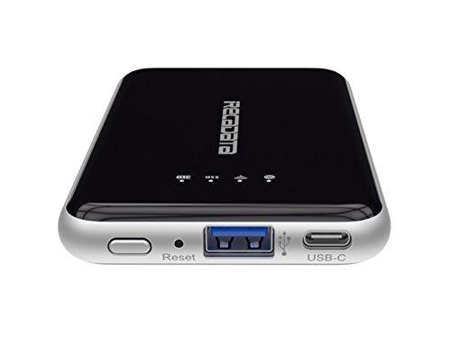 FNSHIP i7 Mini External Wireless WIFI SuperSpeed USB 3.1 Portable Solid State Storage Drive SSD Wifi Router 2250mah Powerbank (512GBBLACK) [並行輸入品]