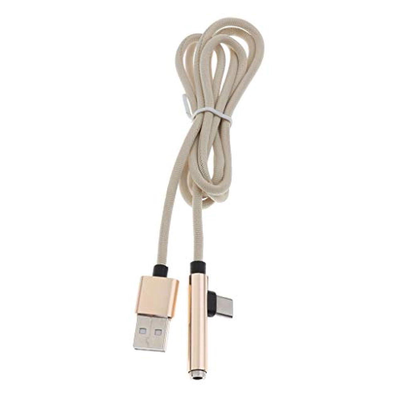 漫画第不適切なBaoblaze USB 3.0 タイプ-C 3.5mm ヘッドフォン オーディオ 充電ケーブル アダプター スプリッター 全3色 - ゴールド